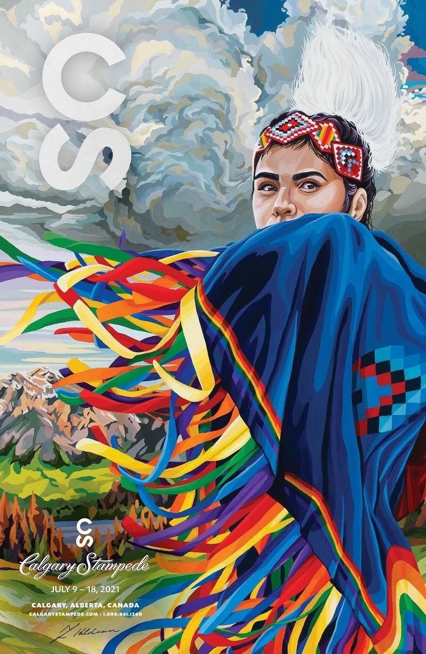 Calgary Stampede Rainbow Girl Poster